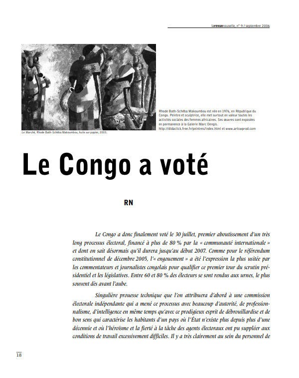 Le Congo a vote