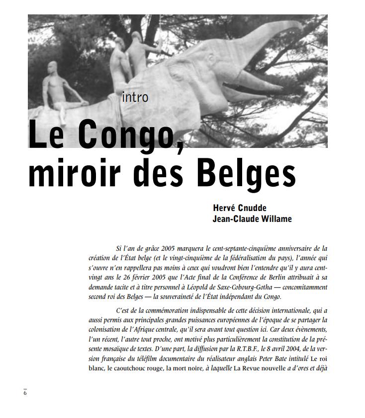Le Congo miroir des Belges