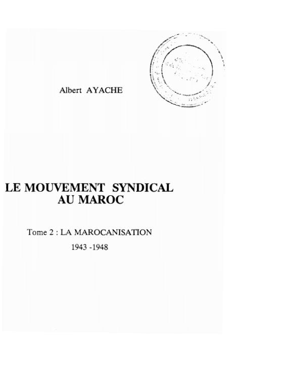 Le mouvement syndical au Maroc