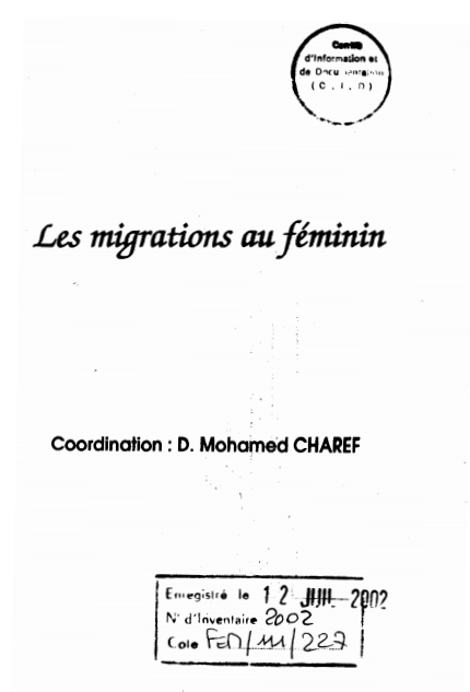 Les Migrations au Feminin