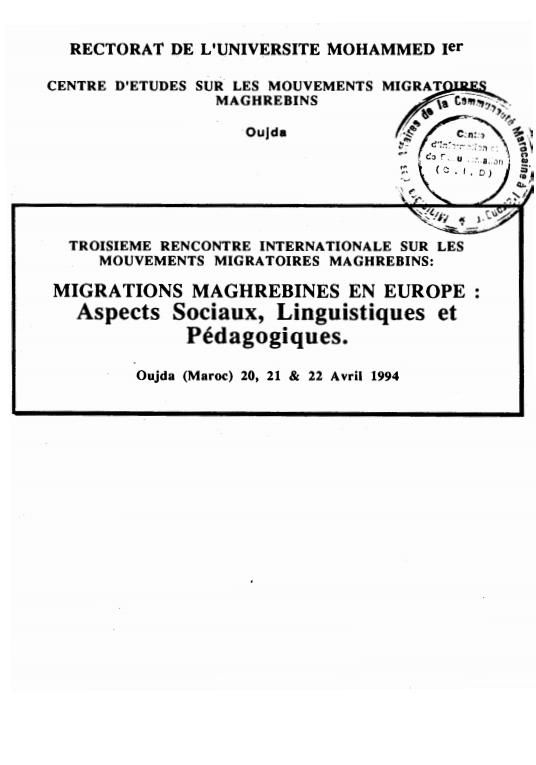 MIGRATIONS MAGHREBINES EN EUROPE