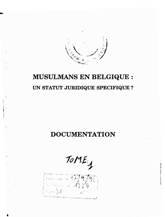 MUSULMANS EN BELGIQUE