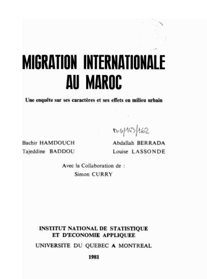 Migration Internationale au Maroc