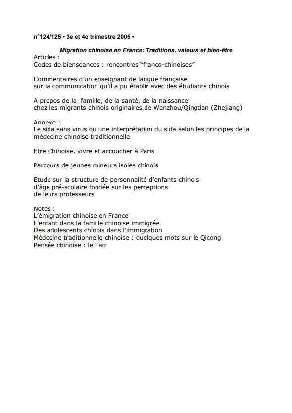 Migration chinoise en France