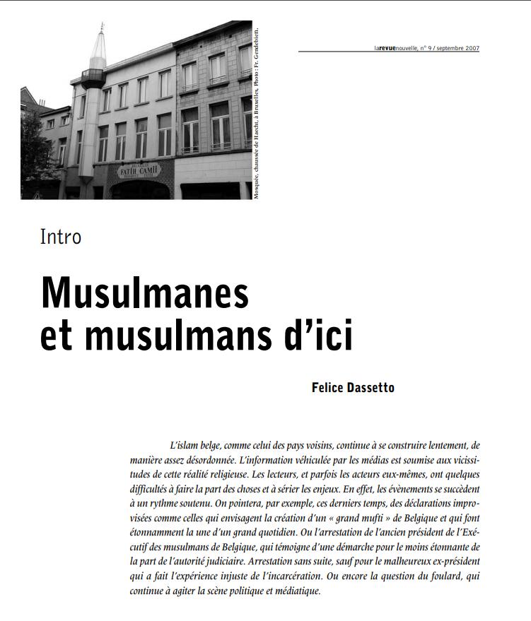 Musulmanes et musulmans d'ici