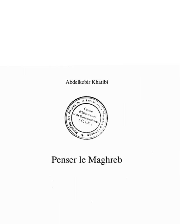 PENSER LE MAGHREB