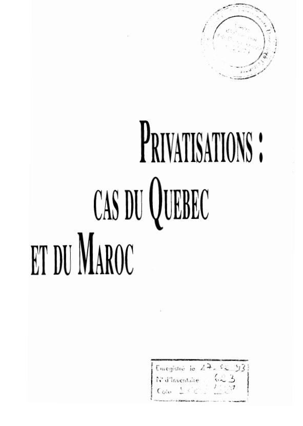 PRIVATISATIONS