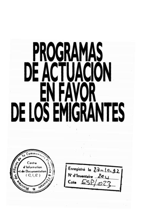 PROGRAMAS DE ACTUACION