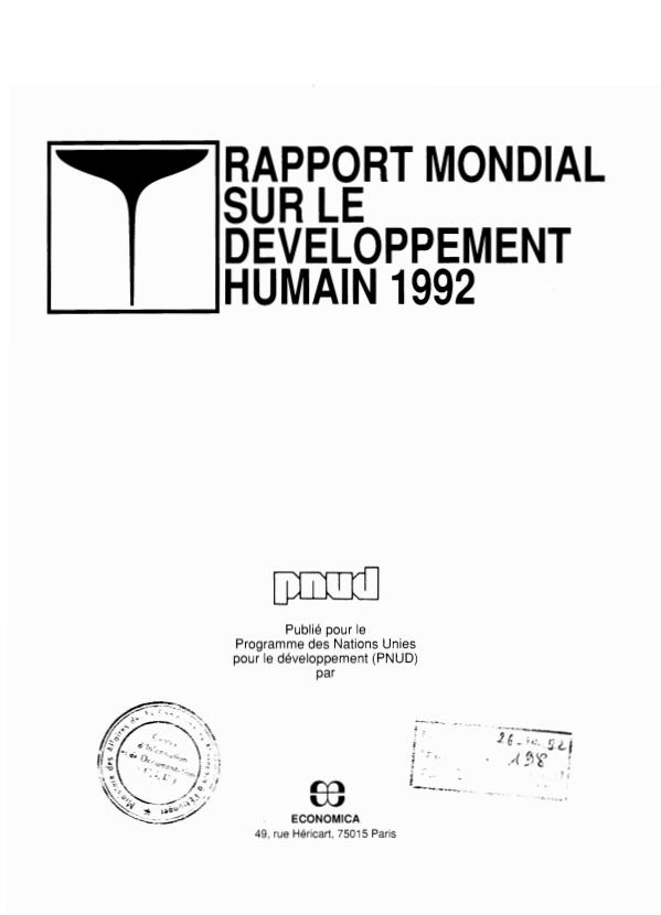 RAPPORT MONDIAL