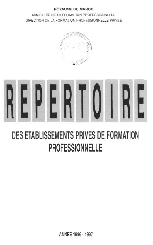 REPERTOIRE DES ETABLISSEMENTS