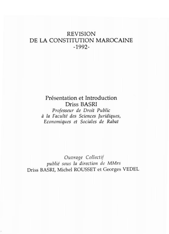 REVISION DE LA CONSTITUTION