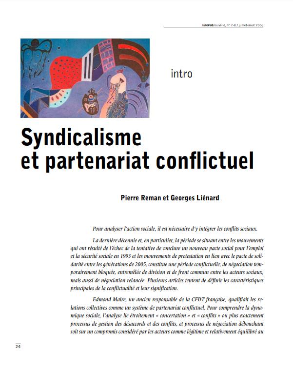 Syndicalisme et partenariat conflictuel