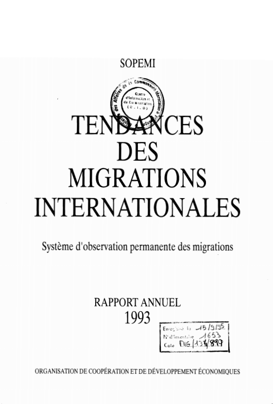 TENDANCES DES MIGRATIONS
