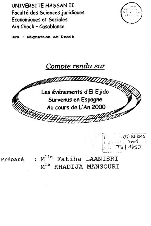 evenements del ejido 2000