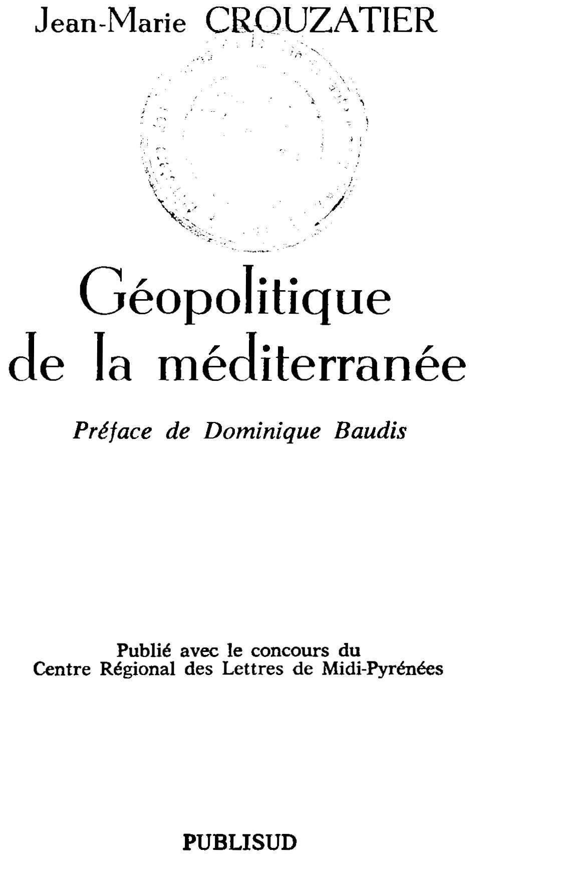 geopolitique de la mediterranee
