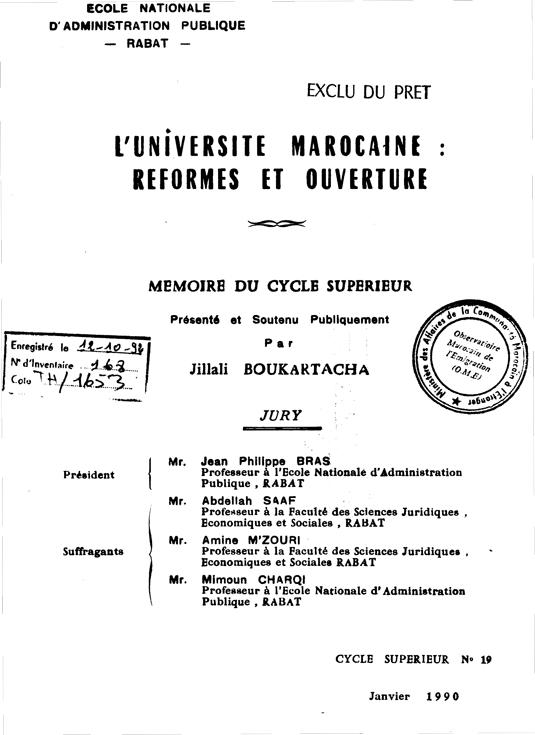 luniversite marocaine reformes et ouverture