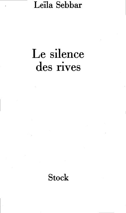 silence des rives