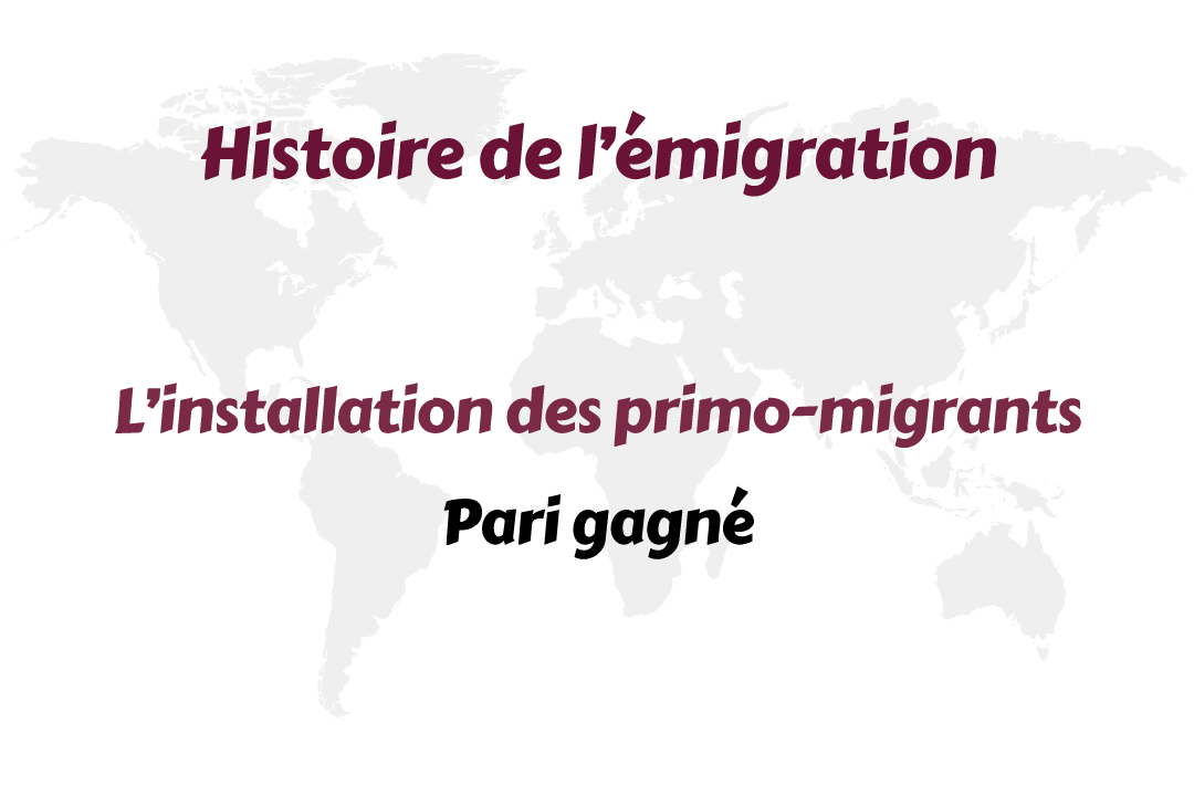 L'installation des primo-migrants – Pari gagné