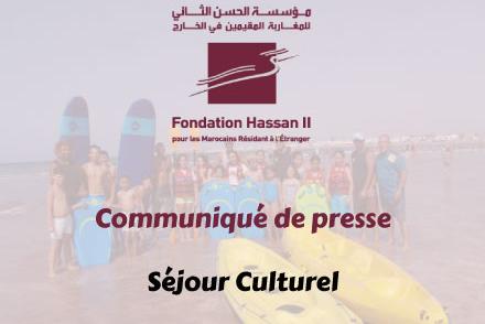Communiqué de presse – Séjour Culturel