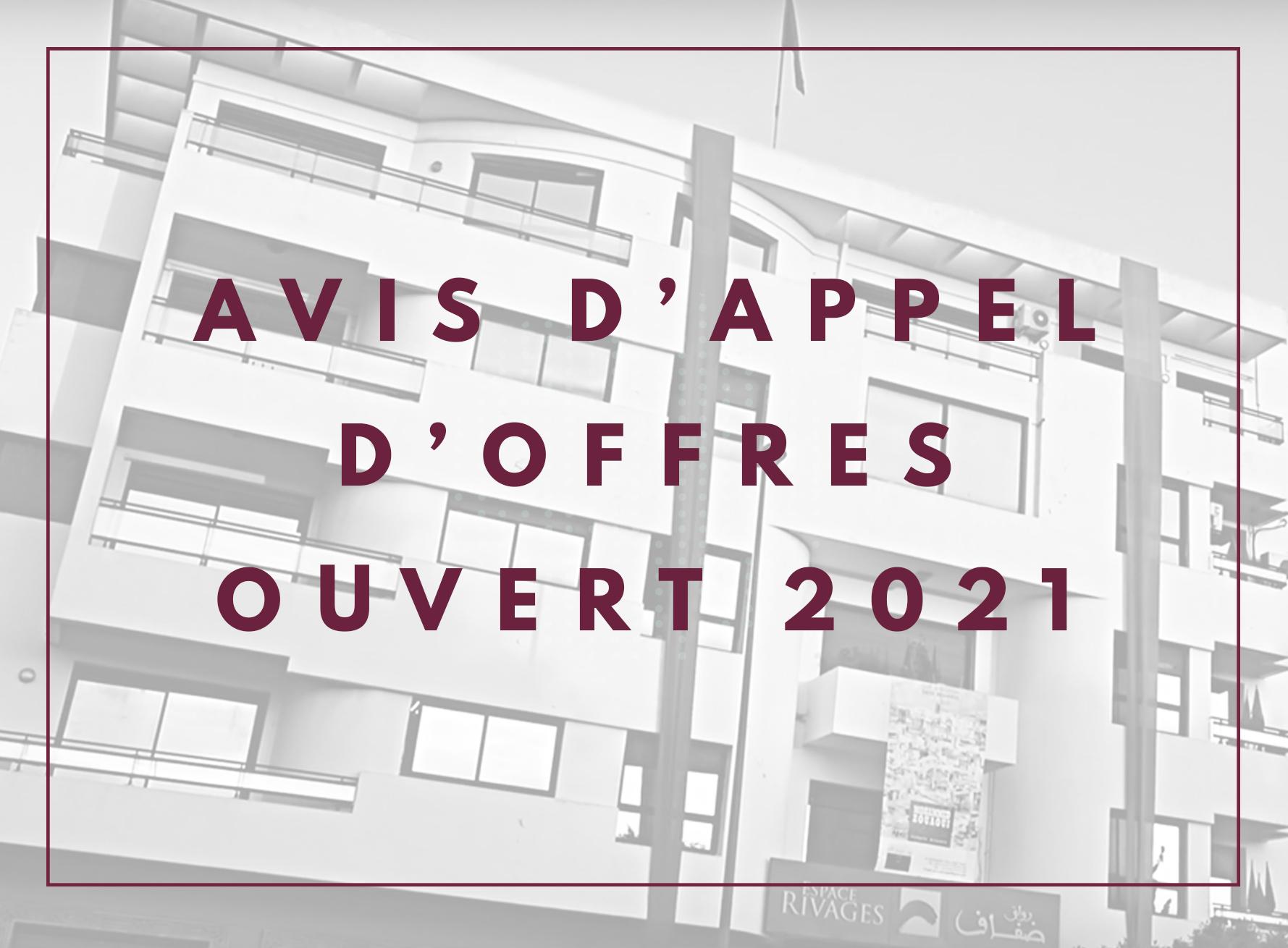 Avis d'appel d'offred ouvert n°01/2021/KENET/2