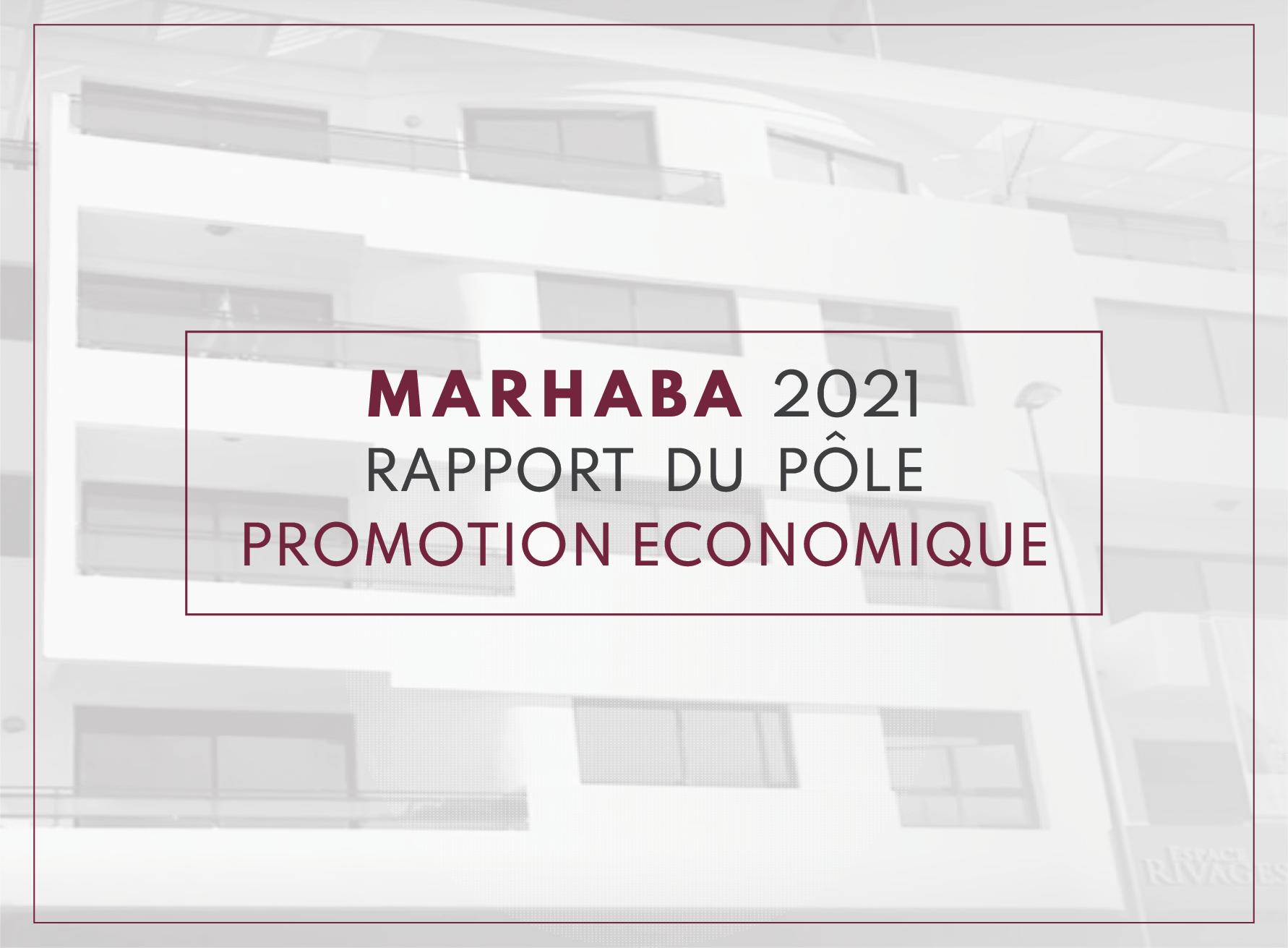 marhaba2021 pole economique